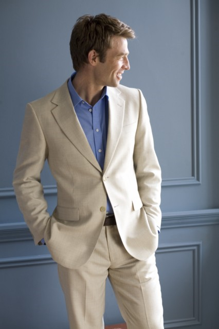 Esher Mens Linen Suit By Brook Taverner